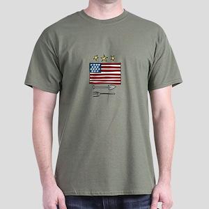 American Flag farming Spade Rake T-Shirt