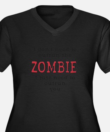 Outrun The Zombie 3 Plus Size T-Shirt