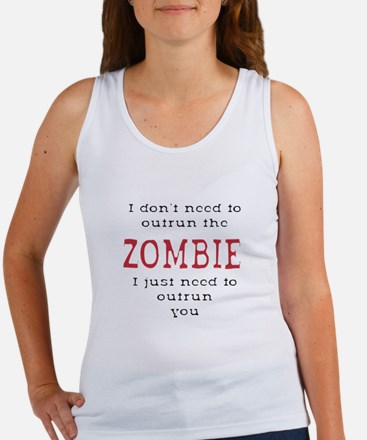 Outrun The Zombie 3 Tank Top