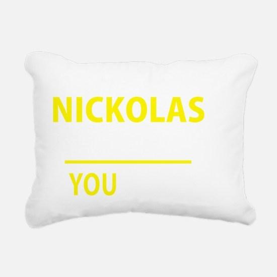 Cute Nickolas Rectangular Canvas Pillow