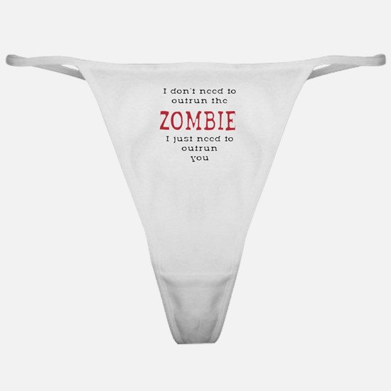 Outrun The Zombie 3 Classic Thong