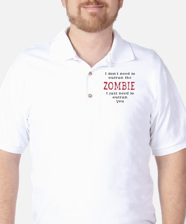 Outrun The Zombie 3 Golf Shirt