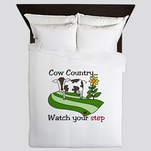 Cow Country Watch your step Queen Duvet