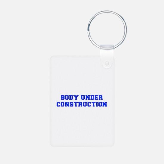 BODY-UNDER-COSTRUCTION-FRESH-BLUE Keychains