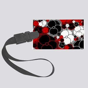 Fantasy Flower Motif Large Luggage Tag