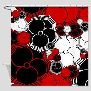 Fantasy Flower Motif Shower Curtain