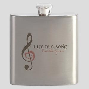 Love the Lyrics Flask
