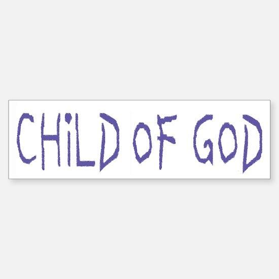 Child of God Bumper Bumper Bumper Sticker