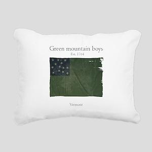 Green Mountain boys Rectangular Canvas Pillow