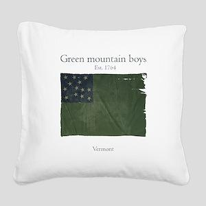Green Mountain boys Square Canvas Pillow