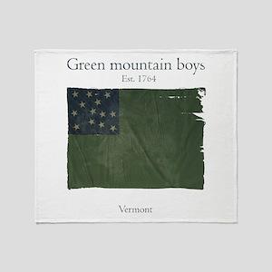 Green Mountain boys Throw Blanket