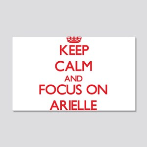 Keep Calm and focus on Arielle Wall Decal