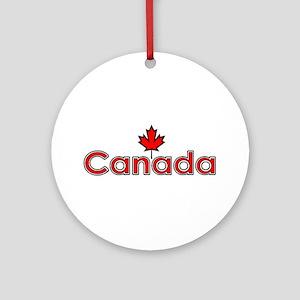 Canada Maple Leaf Ornament (Round)