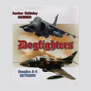 Dogfighters: A-4 vs Harrier Throw Blanket