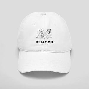 Bulldog Illustration Cap