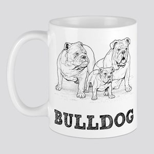 Bulldog Illustration Mug