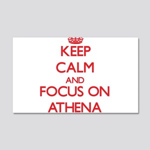 Keep Calm and focus on Athena Wall Decal