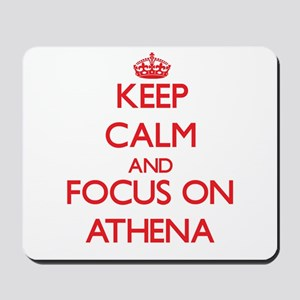 Keep Calm and focus on Athena Mousepad