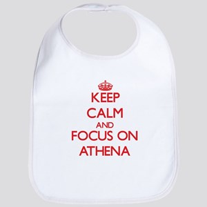 Keep Calm and focus on Athena Bib
