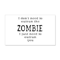 Outrun The Zombie 1 Wall Decal Sticker