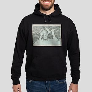 Vintage Pictorial Map of Narragansett B Sweatshirt