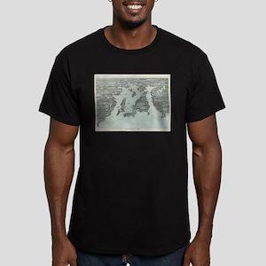 Vintage Pictorial Map of Narragansett Bay T-Shirt