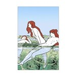 Art Nouveau: Bathing Nymphs Mini Poster Print