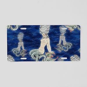Little Rococo mermaid Aluminum License Plate
