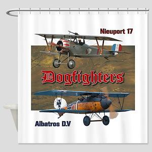 Dogfighters: Nieuport vs Albatros D Shower Curtain