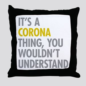 Corona Queens NY Thing Throw Pillow