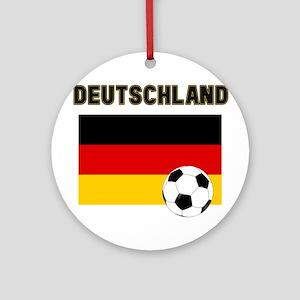 Deutschland Fussball Ornament (Round)