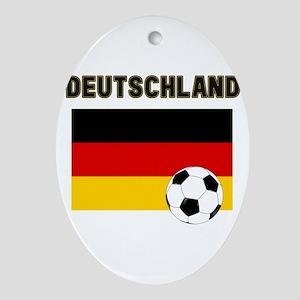 Deutschland Fussball Ornament (Oval)