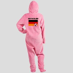 Deutschland Fussball Footed Pajamas