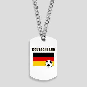 Deutschland Fussball Dog Tags