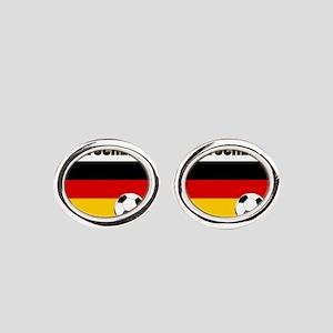 Deutschland Fussball Oval Cufflinks
