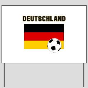Deutschland Fussball Yard Sign