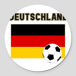 Deutschland Fussball Round Car Magnet