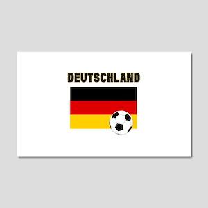 Deutschland Fussball Car Magnet 20 x 12