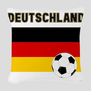 Deutschland Fussball Woven Throw Pillow