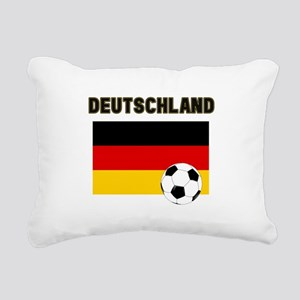 Deutschland Fussball Rectangular Canvas Pillow