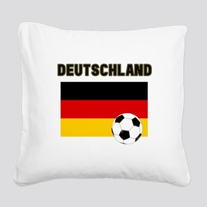 Deutschland Fussball Square Canvas Pillow