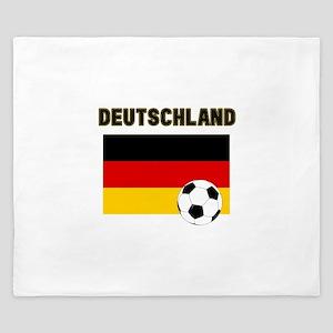 Deutschland Fussball King Duvet