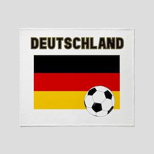 Deutschland Fussball Throw Blanket