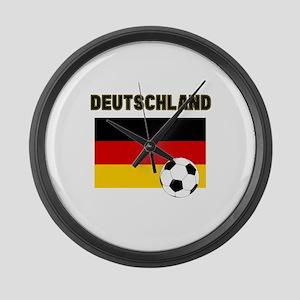 Deutschland Fussball Large Wall Clock