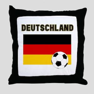 Deutschland Fussball Throw Pillow