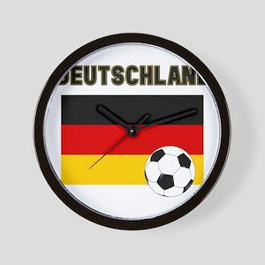 Deutschland Fussball Wall Clock