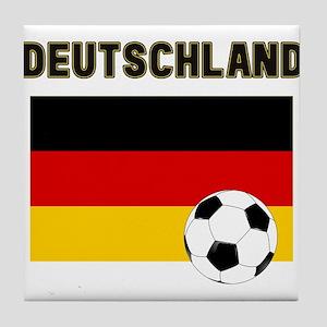 Deutschland Fussball Tile Coaster