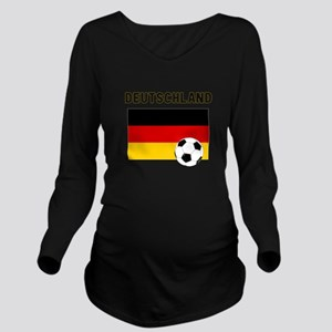 Deutschland Fussball Long Sleeve Maternity T-Shirt