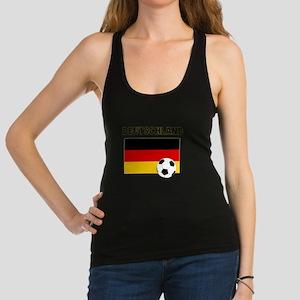 Deutschland Fussball Racerback Tank Top