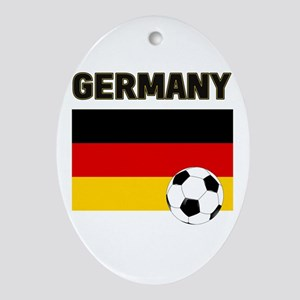 Germany soccer Ornament (Oval)